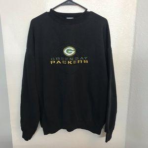 Tops - Green Bay Packers Black Crew Neck Sweatshirt